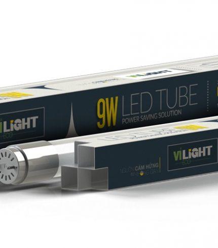 Led tube thủy tinh T8 0.6m 9W VLETU09SL06